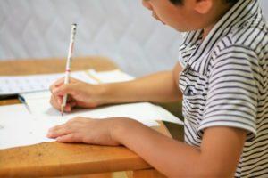 入学準備 名前つけ 鉛筆